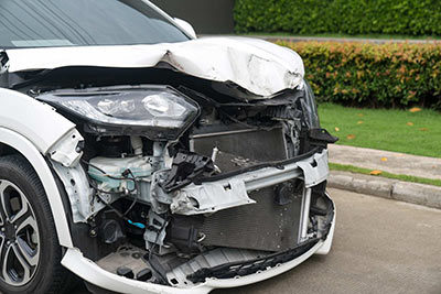 Warsaw Accident Lawyer - Photo of a wrecked car.